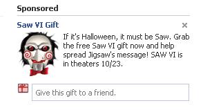 facebook gift - saw v