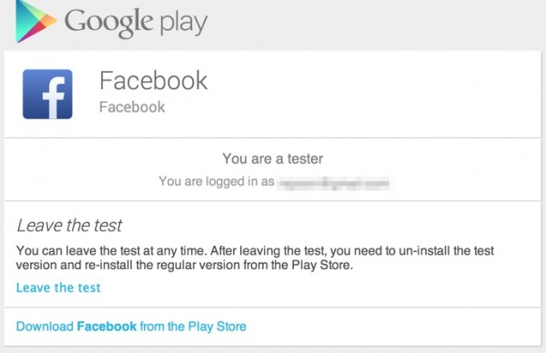 facebook google play
