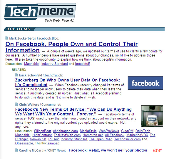 Facebook Techmeme PerezHilton