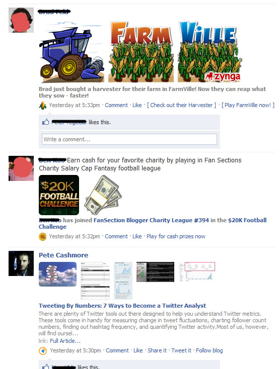Facebook Feed Zynga