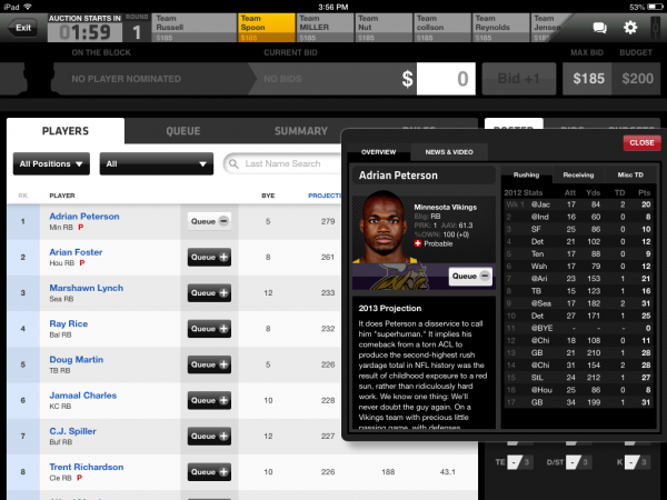 fantasy football ipad app