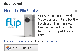 flip ad on facebook coupon
