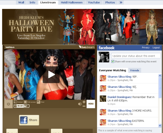 heidi klum halloween party facebook