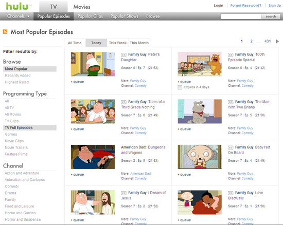 Hulu Family Guy