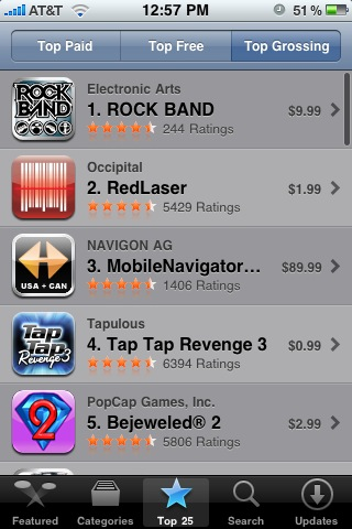 iPhone Top Apps Rockband
