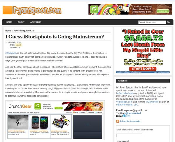 iStockphoto Ad