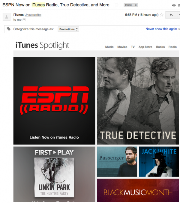 ESPN Radio iTunes Music