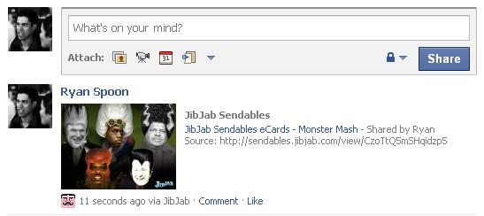jibjab in feed video