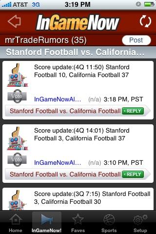 InGameNow Live Scores