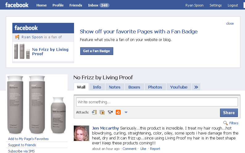 living proof fan page