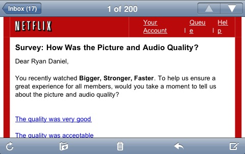 netflix email follow up