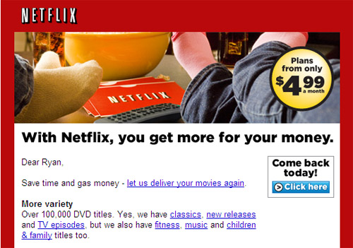 Netflix Marketing Email