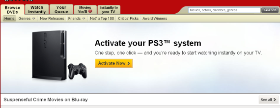 netflix ps3 activation
