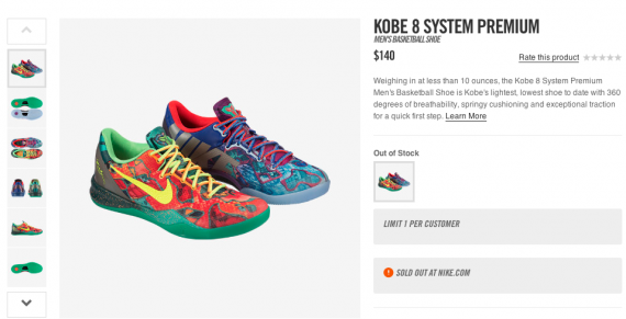 nike kobe sold out