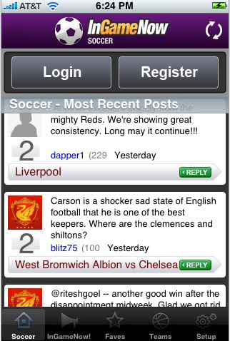 iPhone Soccer App