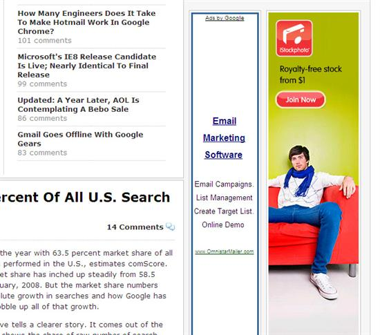 TechCrunch iStockPhoto Ads