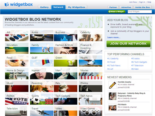 Widgetbox Blog Network Home