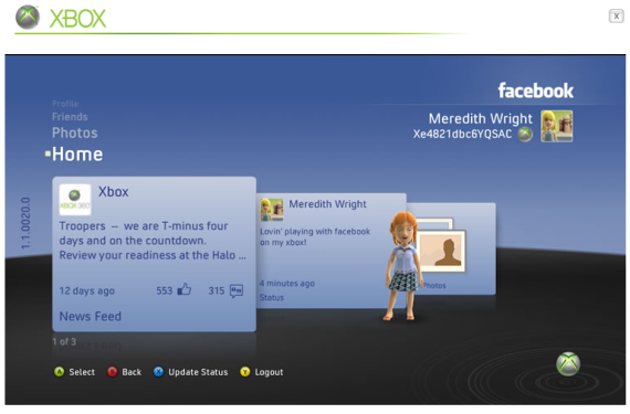 xbox live facebook connect
