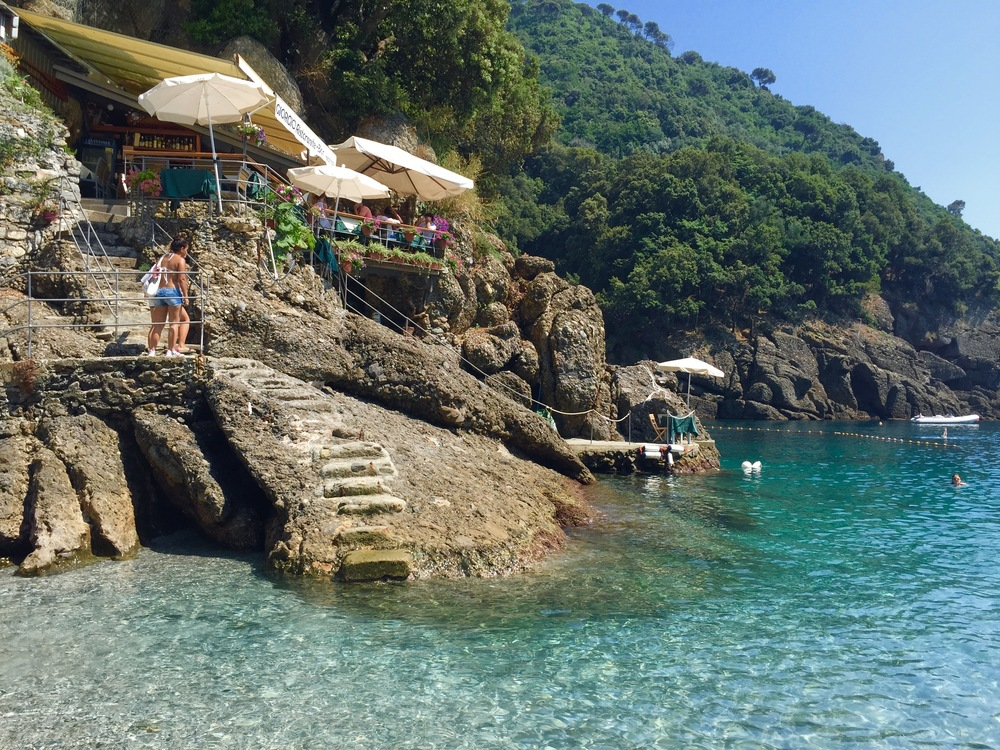 Cove in San Fruttuoso. We jumped off of the rocks in the background (sorry mom).
