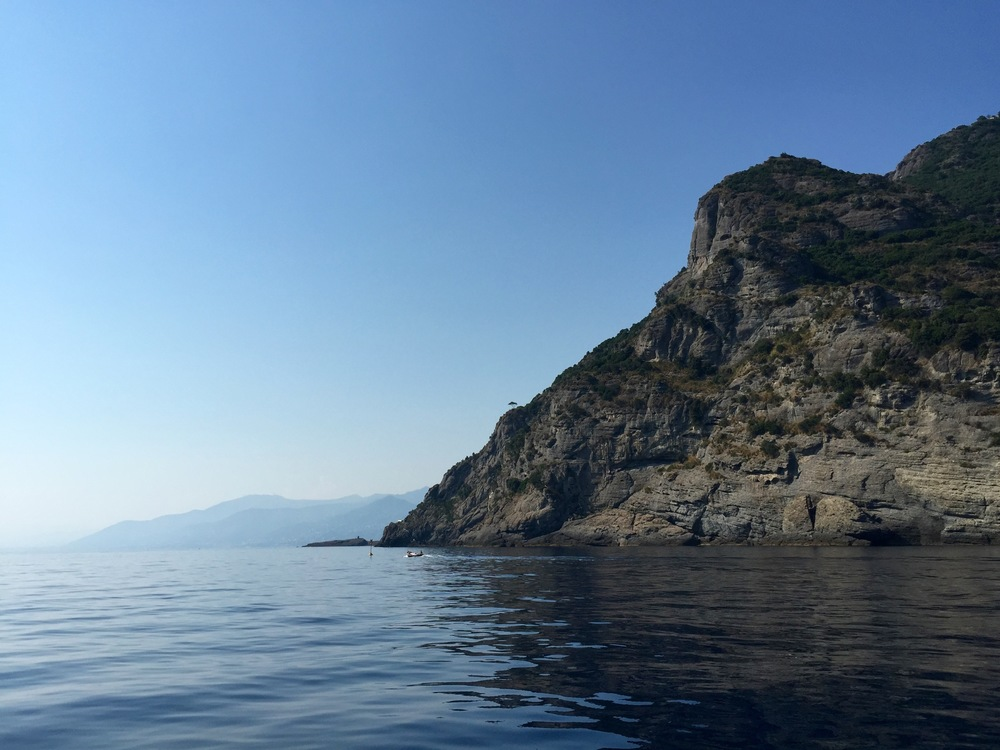En route to San Fruttuoso. This is the other side of the mountain, now Camogli is hidden.
