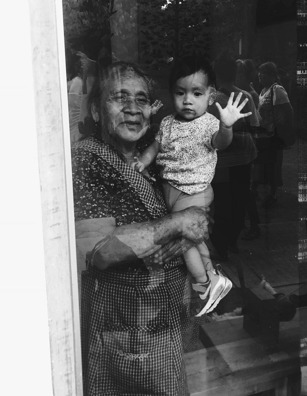 Famous Oaxacan candlemaker, Viviana Alavez and her granddaughter.