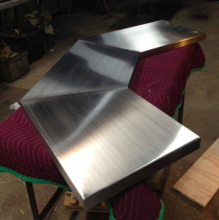 Stainless steel custom bar top