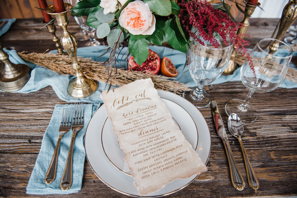 We can provide everything you need for your wedding, rehearsal dinner, or backyard bash! Photo by Shy Laurel Photography.