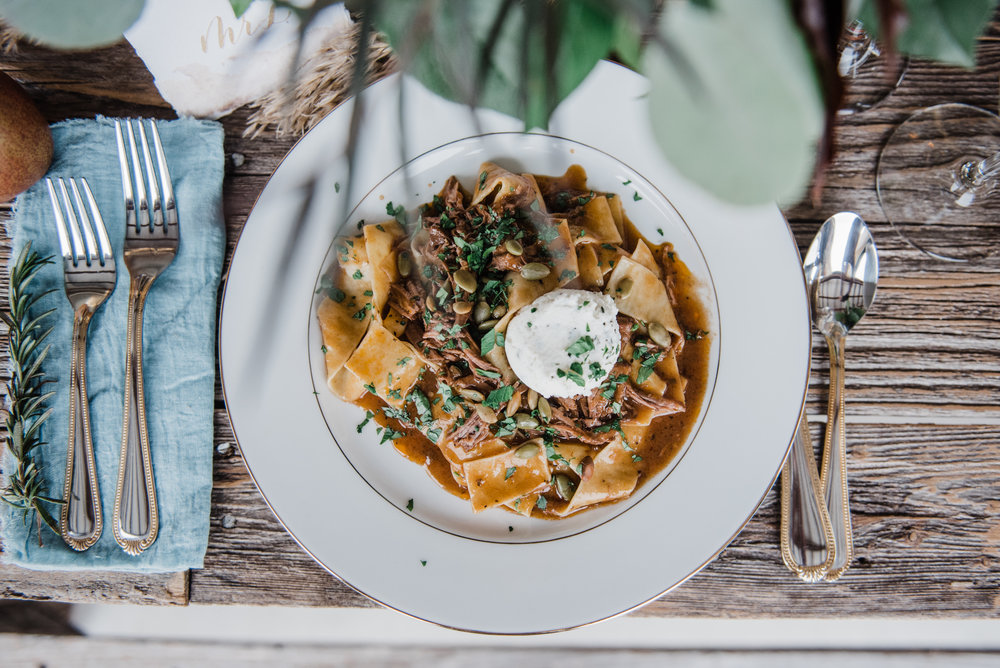 Lamb Ragu with Pappardelle by Root Cellar Catering Co. | Shy Laurel Photography