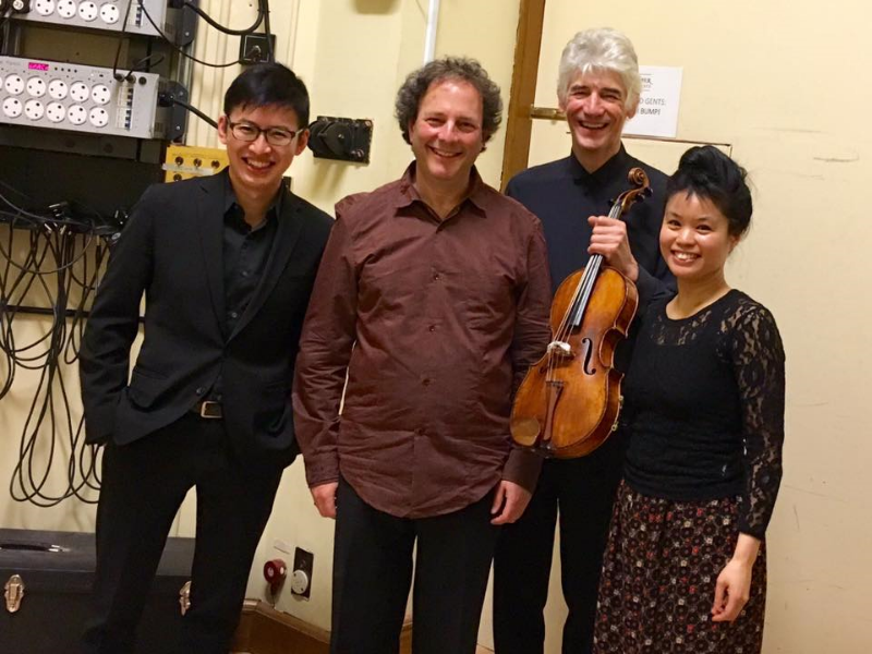 How lucky can a quartet violinist get?