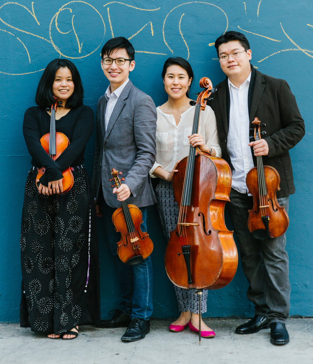 Formosa Quartet | From left to right: Jasmine Lin, Wayne Lee, Deborah Pae, and Che-Yen Chen
