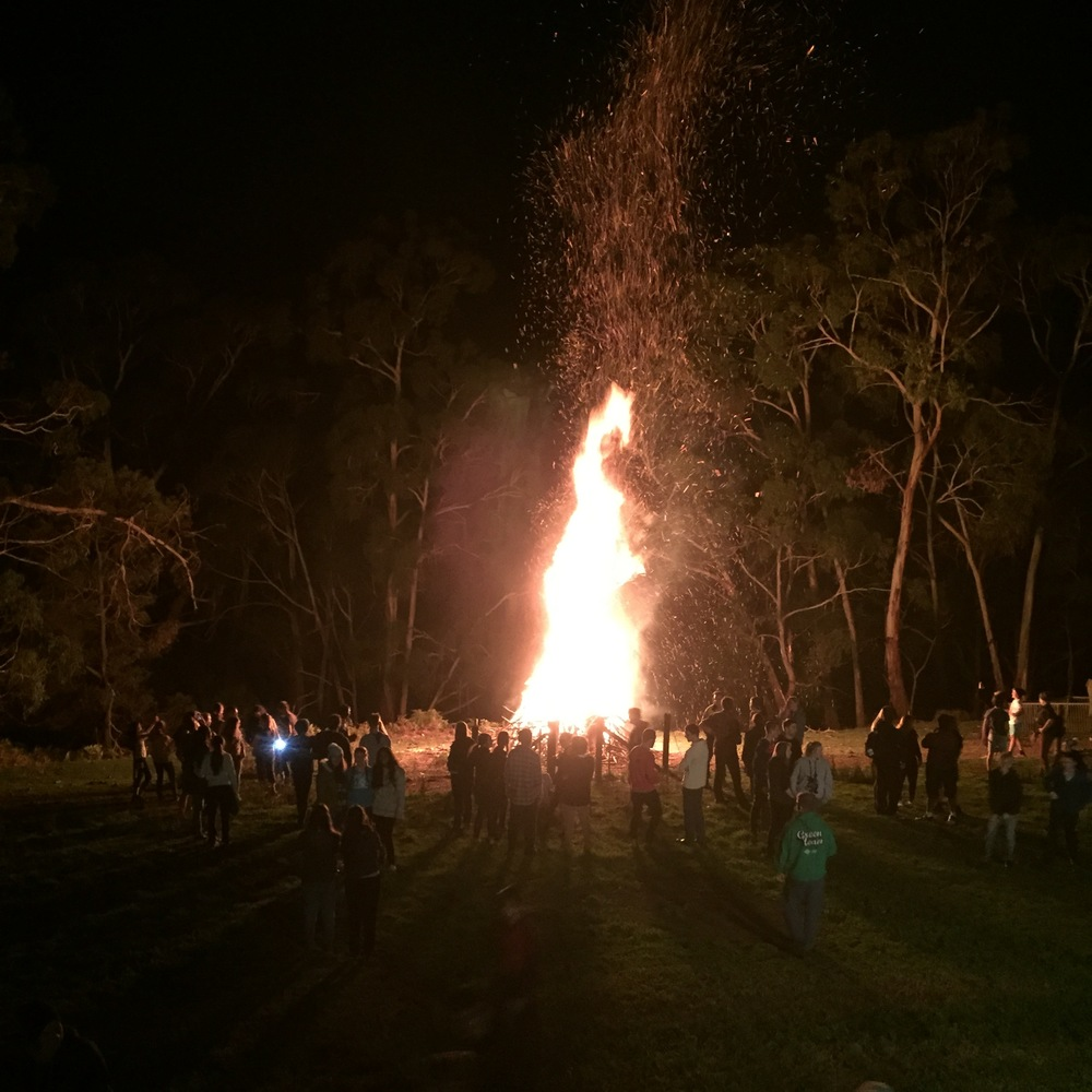 Oasis Youth Bonfire night in the Adelaide Hills.