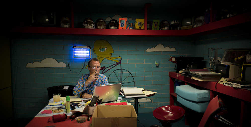 DOUG IN THE WRITING BUNKER