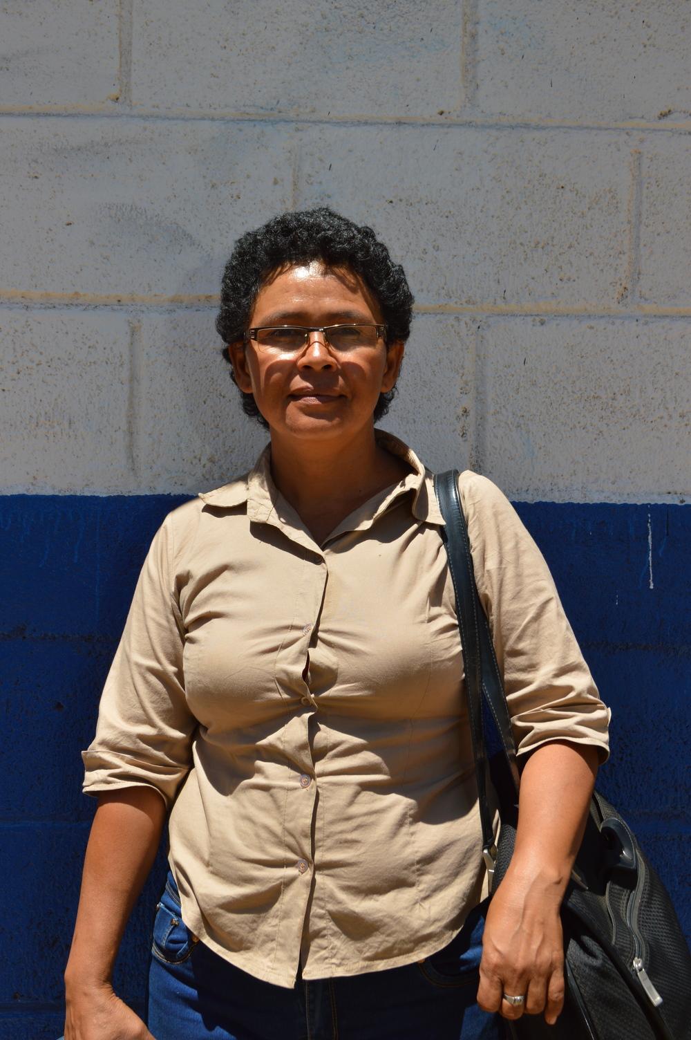 Guadalupe Carmona, principal of Escuela La Arenera                            Photo by Sarah Harris