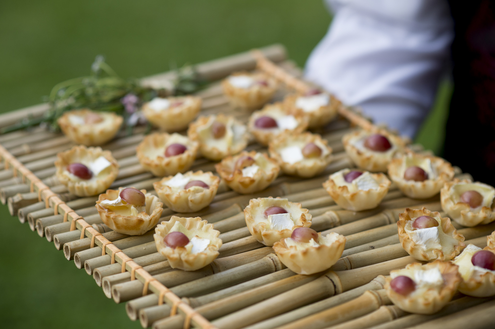 mini brie and grape cups
