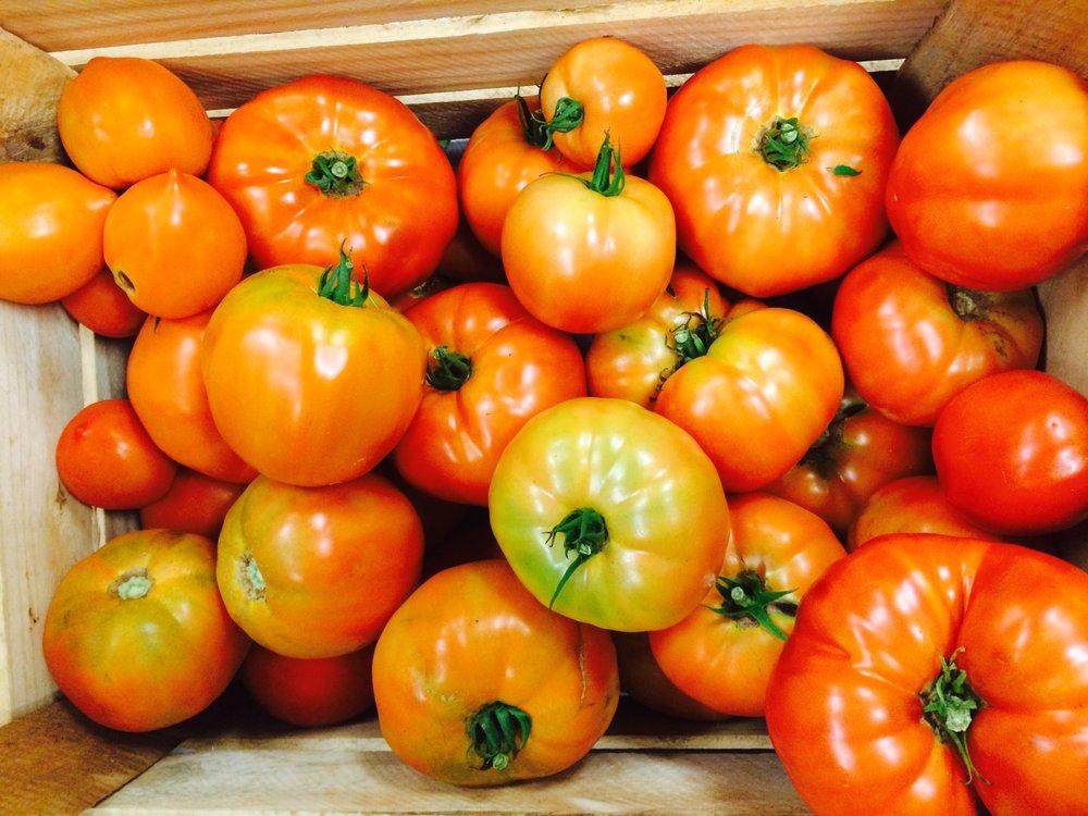 crate of beefsteak tomatoes