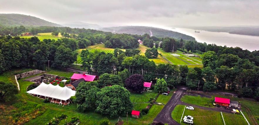 birds-eye- view of property in summer
