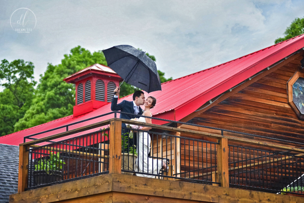 couple on lovers deck on a rainy day <3