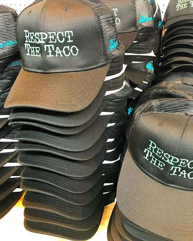 Respect the 🌮 #tacotuesday #tacosarelife @grabandgotaco #embroidery #truckerhat