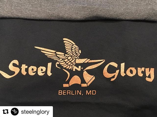 Stoked to test out our copper ink on new swag for @steelnglory 🤟#Repost @steelnglory with @get_repost ・・・ Dude this #copper #ink so rad!  In #buisness #firstimpressions are #huge  @ocnewwave can help you take your business to the next level. They have been #killing the #apparel #game #since1980