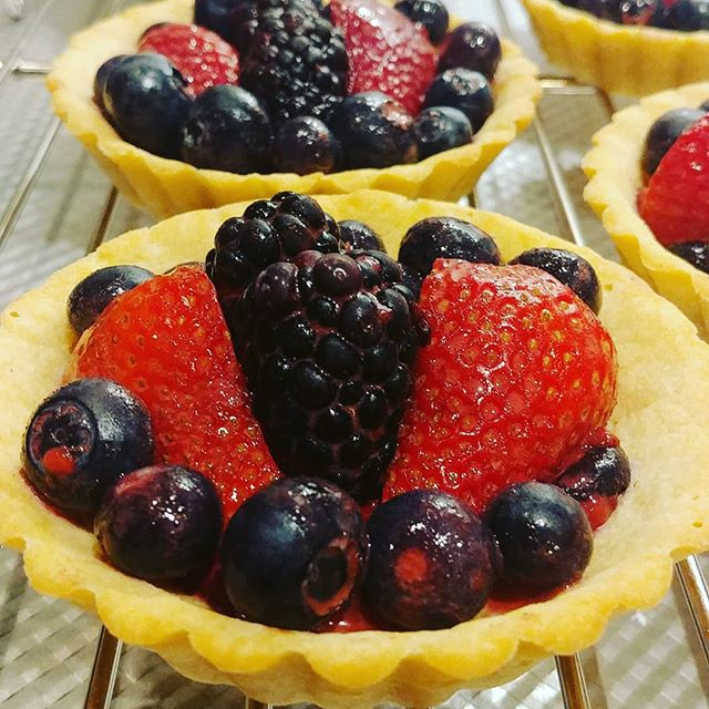 Paleo, no sweetener added, organic mixed berry tarts come get yours at Old Town North Farmer's Market today 3 to 7pm