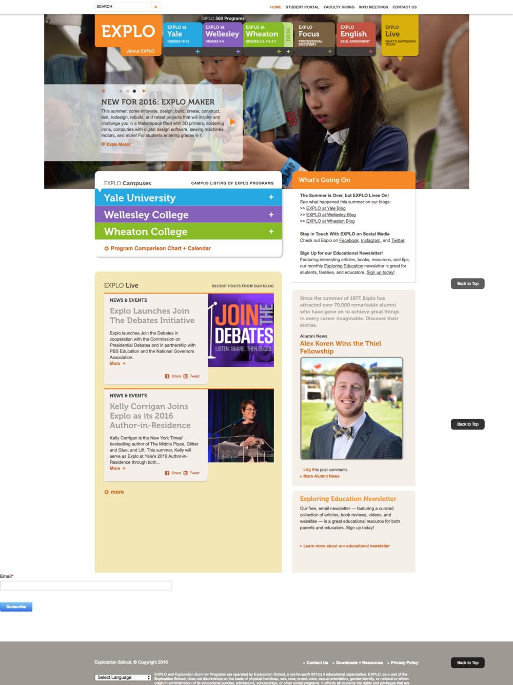 The previous EXPLO website