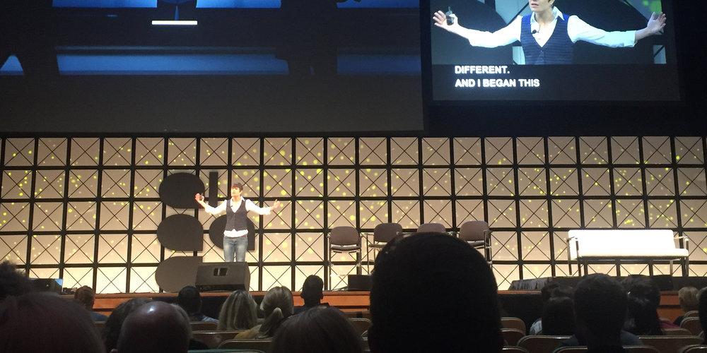 Elise presenting at TEDx