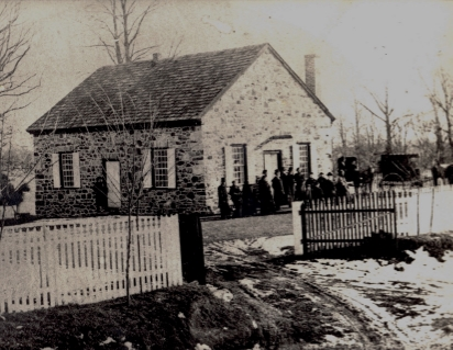 The meetinghouse as it was in the 19th century. Source unknown.