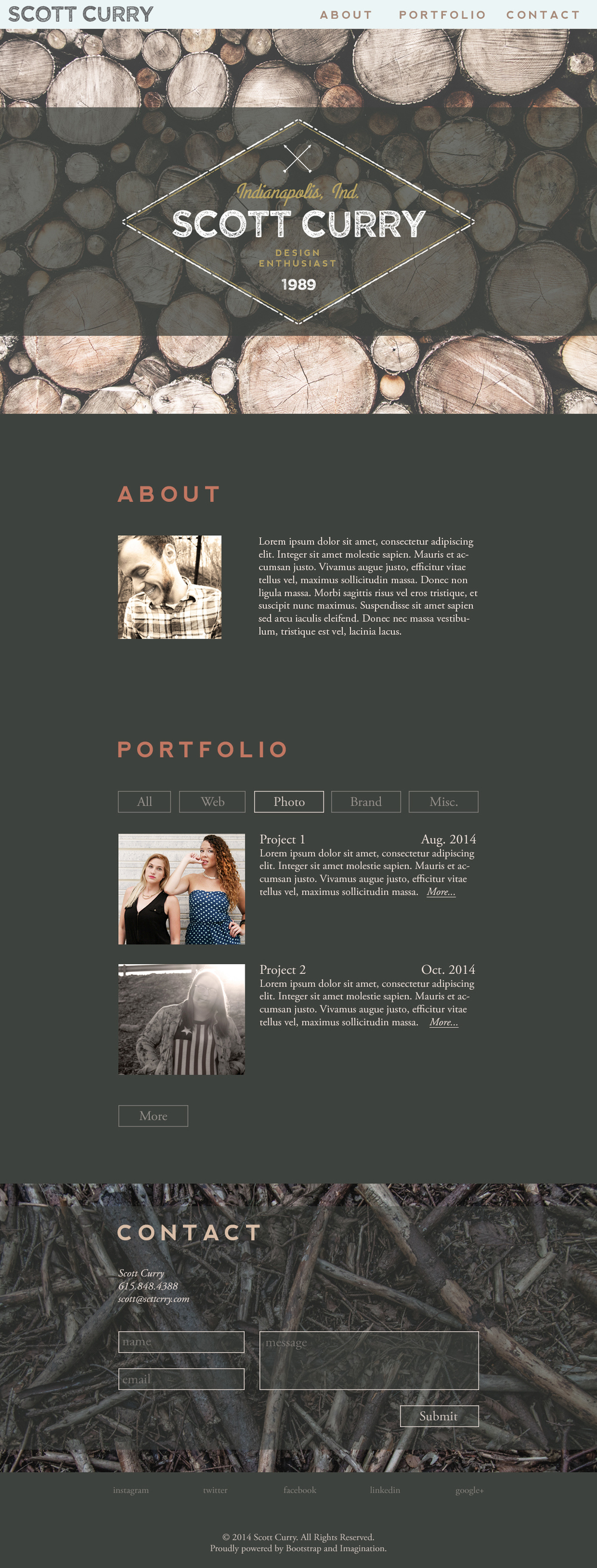 Woods Portfolio Theme / Design