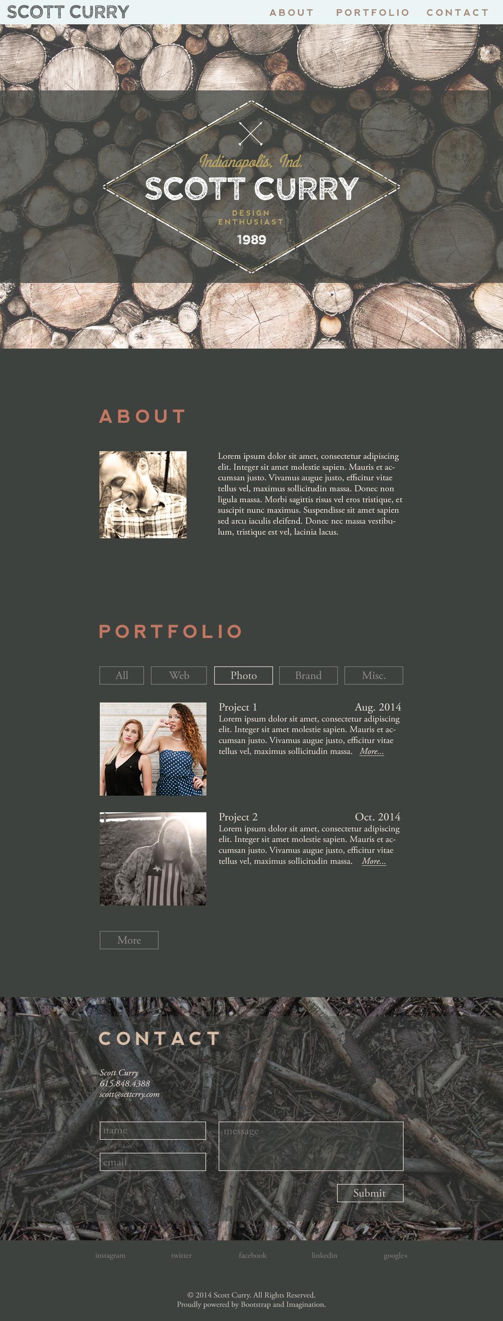 Woods Portfolio Theme / Design