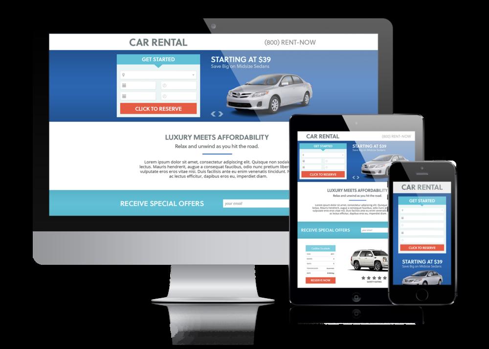 Landing Pages / Design + Marketing