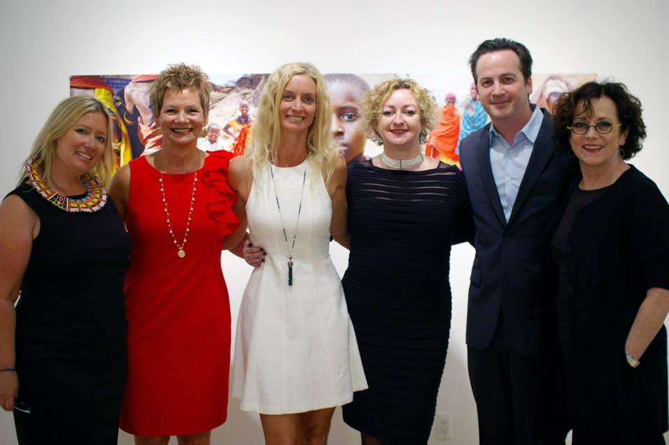 Kristin with our Board Members, Mary Buzas, Doretta Bonner, Linda Hooper and our hosts David Klein and Christine Schefman.