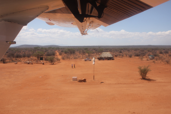 The Kalama Airstrip in Samburu.
