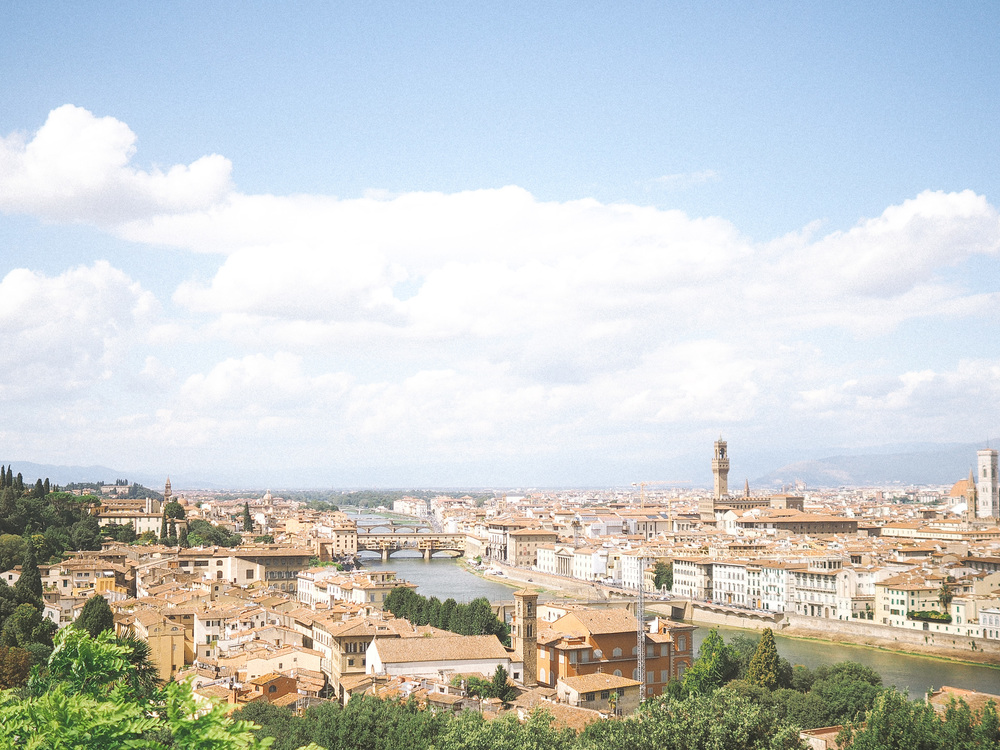 If you are in Florence it's well worth to go to Piazzale Michelangelo to check out the famous view of the city, I have to say it's one of a very few attractions we went to.
