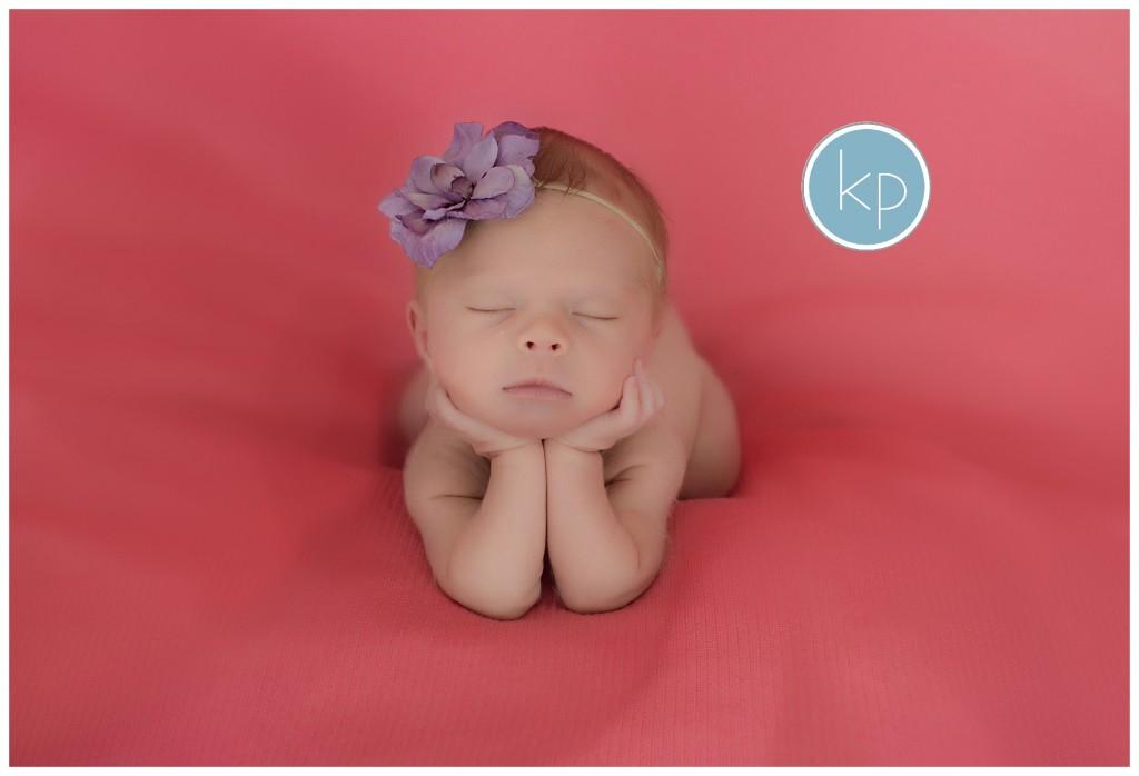 Chin in Hand newborn pose